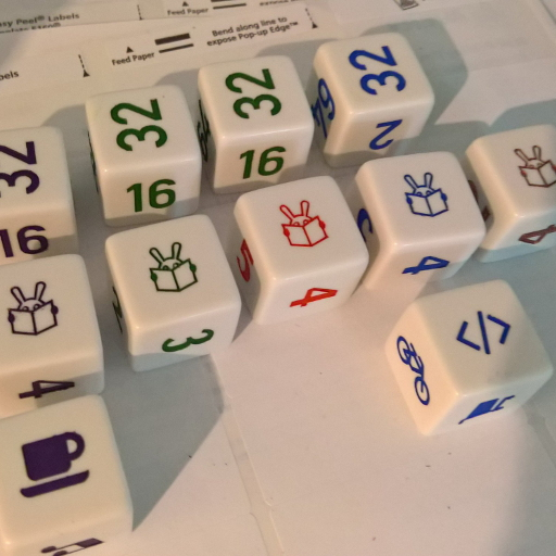 Example image of custom dice