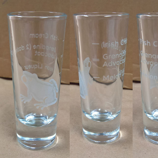 Example image of custom engraved glass