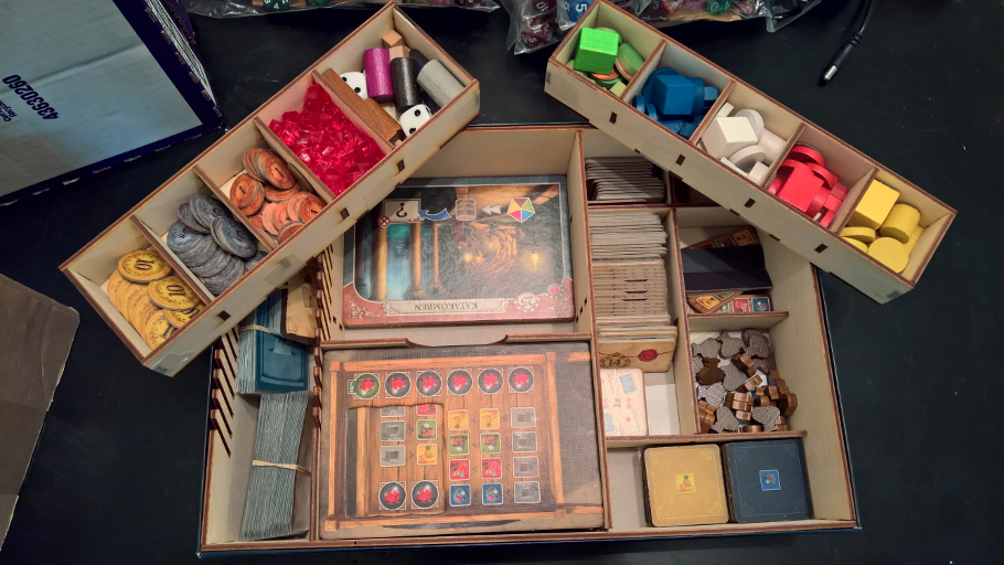 Example of a board game box insert